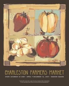 07 Charleston Farmers Market Poster